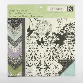 Black & Ivory Fusion 12x12 Designer Paper Pad_30-244573