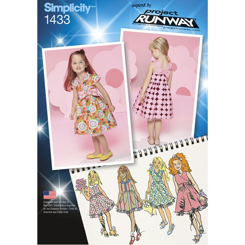 Simplicity Pattern 1433 Toddlers' and Child's Project Runway Dresses