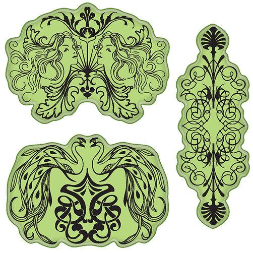 Elegant Nouveau Cling Stamps_65-32088