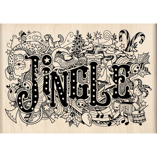 Jingle Doodle Wood Stamp_60-00934