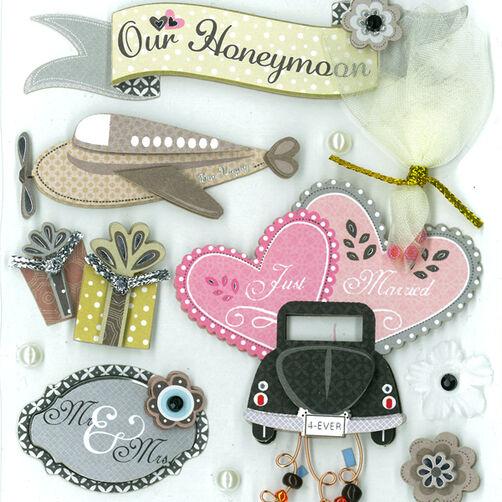 Our Honeymoon Dimensional Sticker _30-577336