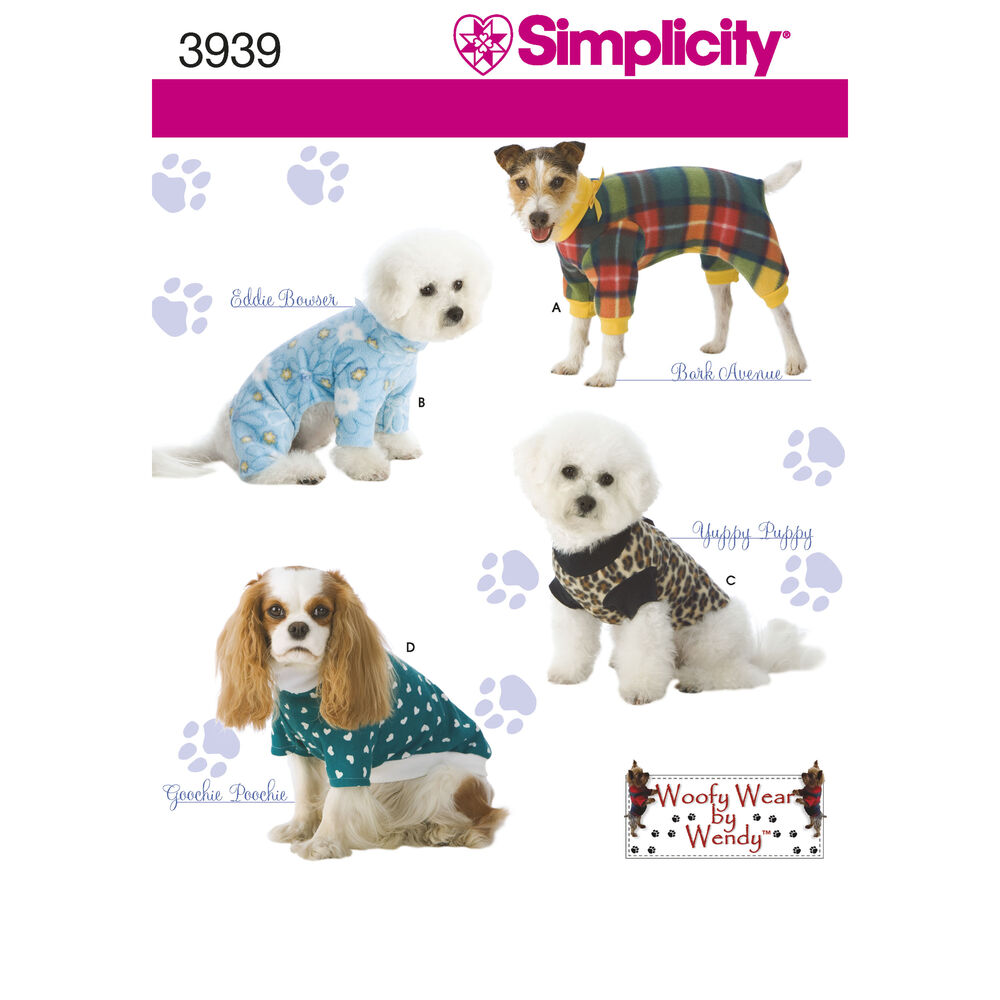 dog coat template - pattern for crafts simplicity