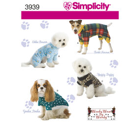 Simplicity Pattern 3939 Dog Clothes