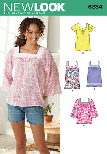 Misses' Pullover Top in Two Lengths