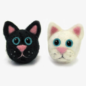 Round & Wooly Cats, Needle Felting_72-73907