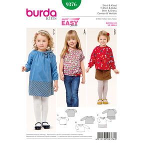 Burda Style Pattern 9376 Shirt and Dress