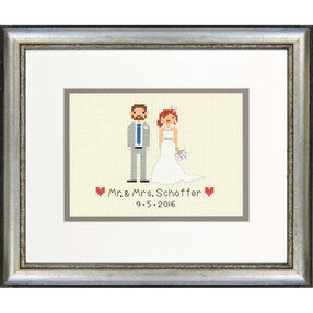 Bride and Groom Wedding Record, Counted Cross Stitch_70-65160