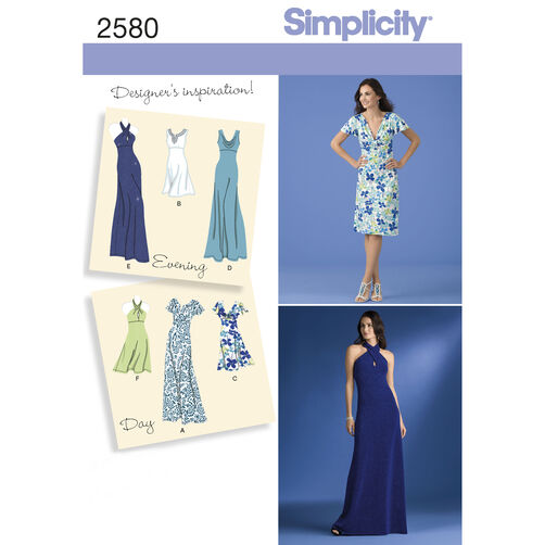 Simplicity Pattern 2580 Misses Special Occasion Dresses