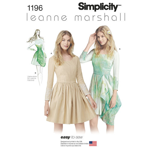 Simplicity Pattern 1196 Misses Easy-to-Sew Leanne Marshall Dress