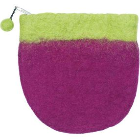 Wool Felt Mini Purse, 2-Tone_73340