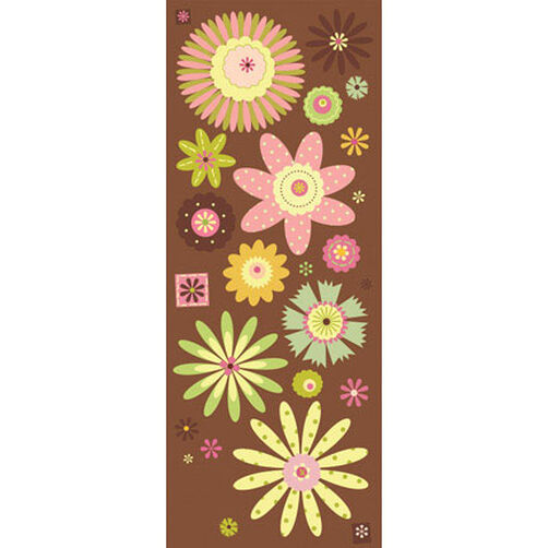 Brenda Walton Neopolitan Floral Glitter Embossed Stickers_551251