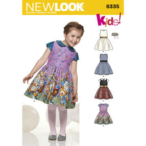 New Look Pattern 6335 Child's Dress and Faux Fur Collar
