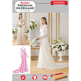 Simplicity Pattern EA190901 Premium Print on Demand Misses' Gowns