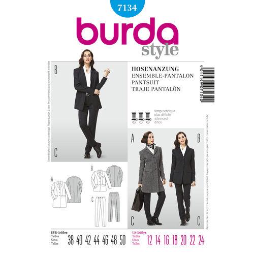 Burda Style Pattern 7134 Pantsuit