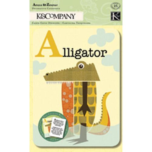 Jenn Ski Actopus to Zelephant Animal Alphabet Cards_30-561632