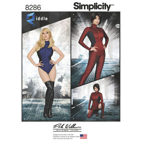 Simplicity Pattern 8286 Misses' Knit and Woven Jumpsuit and Leotard