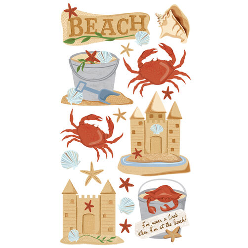 Beach & Crabs Stickers_52-00292