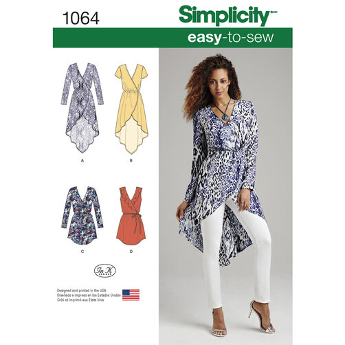 Simplicity Pattern 1064 Misses' Tunics