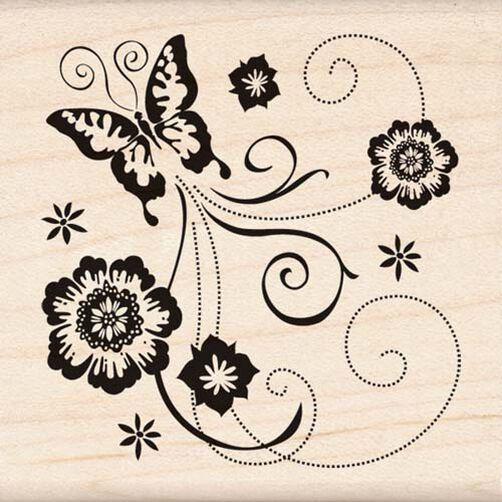 Butterfly Scroll Corner_95976
