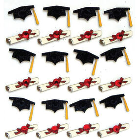 Graduation Caps And Diplomas Repeat Stickers _50-20758