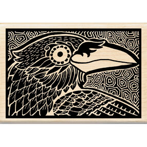 Crow Woodcut Wood Stamp_60-00995