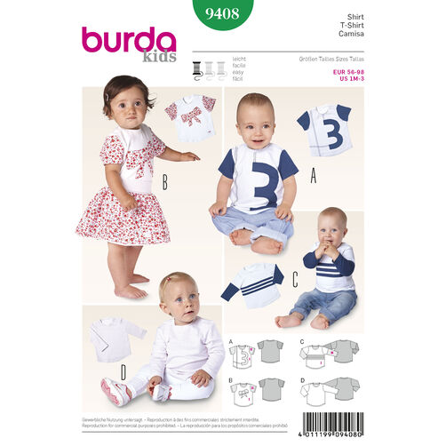 Burda Style Pattern 9408 Toddlers