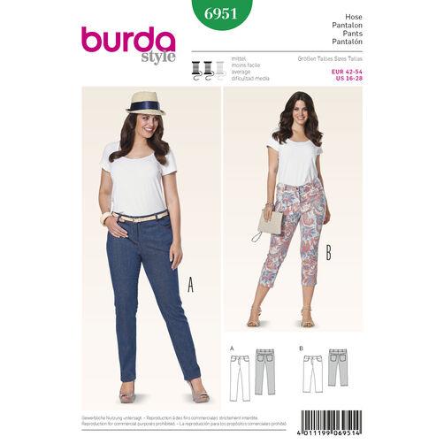 Burda Style Pattern 6951 Plus to size 60