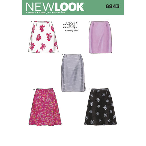 New Look Pattern 6843 Misses' Skirts