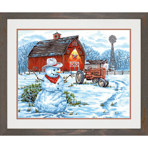 Country Snowman, Paint by Number_73-91434