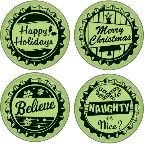 Holiday Bottle Caps Cling Stamps_60-60178