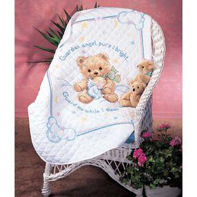 Cuddly Bear Quilt, Stamped Cross Stitch_13065