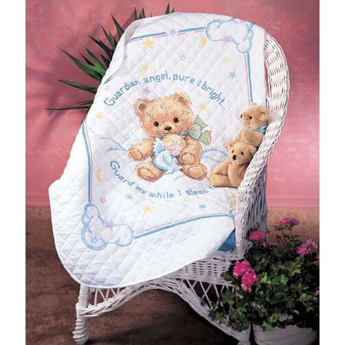 Cuddly Bear Quilt, Stamped Cross Stitch_13065