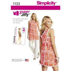 Simplicity Pattern 1133 Misses' Super Jiffy Tunic and Pants