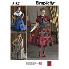 Pattern 8187 Misses' Dress and Cropped Jacket