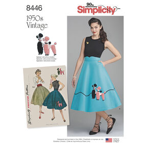 Pattern 8446 Misses' Vintage Skirt and Cummerbund