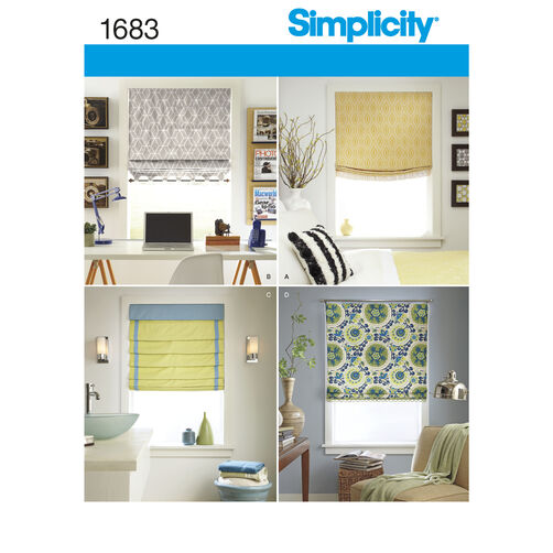 Simplicity Pattern 1683 Roman Shades in 4 Styles