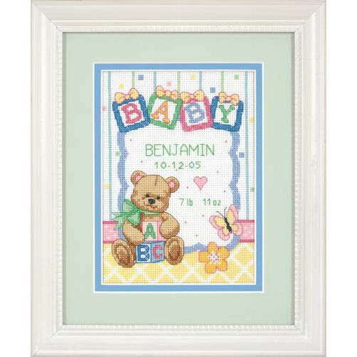 Baby Blocks Birth Record, Counted Cross Stitch_73049