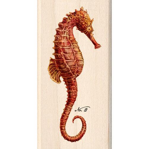 Red Seahorse Wood Stamp_60-00977