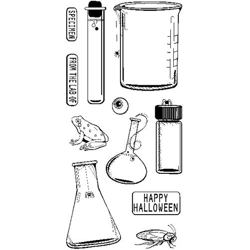 Test Tubes Clear Stamps_60-31149