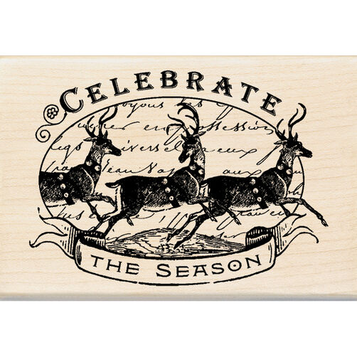 Celebrate the Season Wood Stamp_60-00944