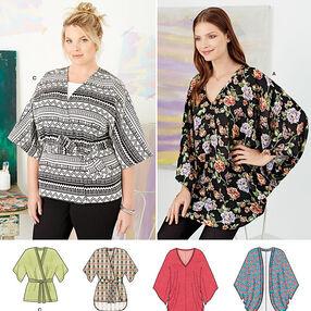 Pattern 8091 Misses Kimonos in Various Styles