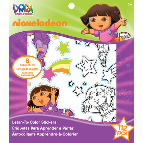 Dora Learn-To-Color Stickers _51-04034