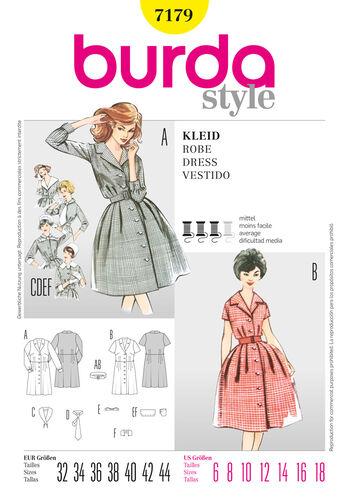 Burda Style Pattern 7179 Dress