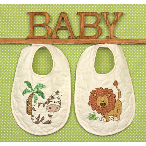Kimba Bibs Stamped Cross Stitch_70-73881