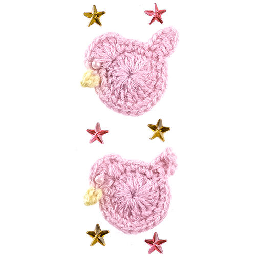 Baby Girl Crocheted Duck Stickers_50-40347