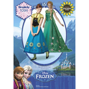 Simplicity Pattern 1094 Disney's Frozen Fever Misses' Costumes
