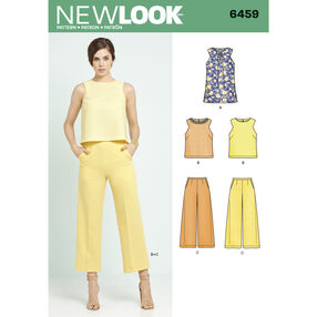New Look Pattern 6459 Misses' Tunic or Top and Cropped Pants