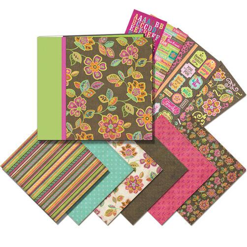 Pink and Brown 12 x 12 Mega Scrapbook Kit_30-616769