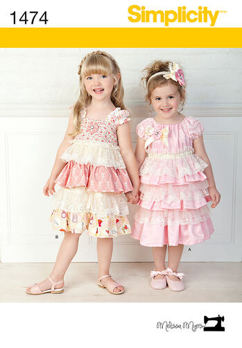 Child Lacey Dresses and Headband