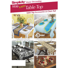 Simplicity Pattern 5530 Table Top Accessories